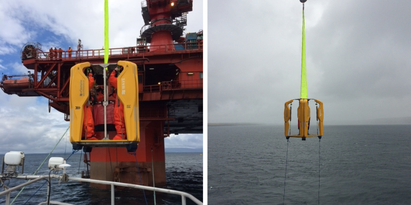 Read Crew transfer by crane in decommissioning